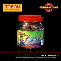 Permen Ninja Umbrella Chocolate Toples isi 50pcs
