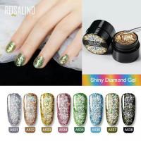 ROSALIND Shiny Diamond Gel Nail Polish UV LED / Kutek / Cat Kuku Murah