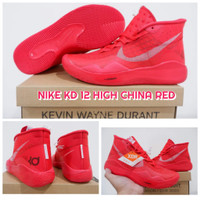 Sepatu Basket Kevin Durant 12 Nike KD 12 HIGH China Red SIZE 46