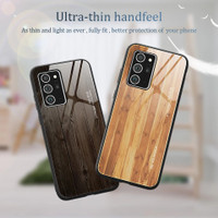 WoodGrain Glass Case Samsung Galaxy Note 20 SamsungNote20 Casing HP