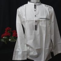 Baju koko lengan panjang al luthfi putih murah.