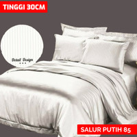 SPREI EMBOS POLOS 160X200 T30 - PUTIH 85 BY ROSEWELL