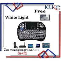 WHITE LIGHT Keyboard Air Mouse i8 Mini Keypad Wireless Touchpad
