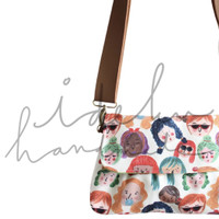 Sling Bag Faces by Ideku Handmade