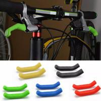 Cover Karet Silikon Pelindung Handle Rem Sepeda Anti Slip - Biru