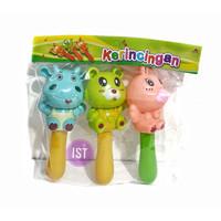 Mainan Pegangan Kerincingan Bayi Animal isi 3 pcs No. OCT 3220