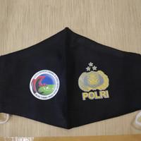 Masker kain 3ply khusus custom logo / sablon logo HARGA 2 SISI