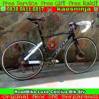 Sepeda Balap Roadbike Luxe Celcius 700c Alloy Instan - Black silver