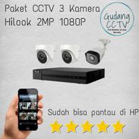 PAKET CCTV HILOOK BY HIKVISION 4 Channel 3 KAMERA 2MP 1080P