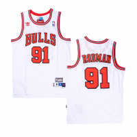 Baju Jersey Basket Classic NBA Dennis Rodman Chicago Bulls Putih