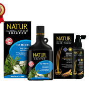 Natur shampoo tea tree oil 270ml tonic ginseng 90ml