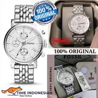 Jam Tangan Wanita Merk Fossil Original Type ES2198 Baterai Silver