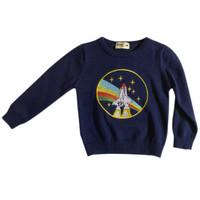 Rocket Embroidery Baby Boy Sweater - MOEJOE