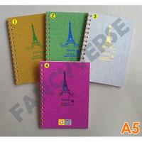 Notebook Spiral A5 Gliter 32K-1001 / Agenda Diary Notes Buku Catatan