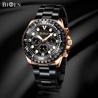 Biden jam tangan pria mewah kasual tahan air kuarsa bisnis jam tangan