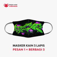 Masker Kain 3 Lapis (3 Ply) Earloop - Desain oleh GIGI