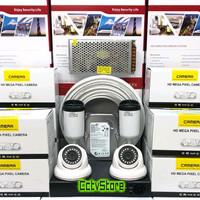 PAKET CCTV 4 CHANNEL 4 KAMERA AHD 1080P 5MP TINGGAL PASANG