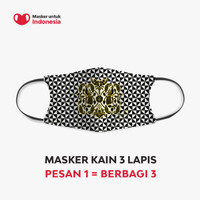 Masker Kain 3 Lapis Earloop- Peksi Laras Latar Kitiran oleh Iwan Tirta
