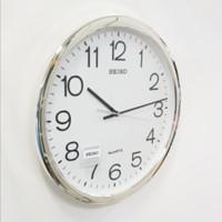 Jam Dinding Seiko Ukuran Besar Diameter 40 cm 16 Inch Putih Original