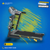 Treadmill elektrik merk total 3 fungsi motor 2hp tipe TL288 | alat gym
