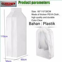Cover pelindung baju pakaian anti debu penutup pakaian baju jas - Plastik Peva110