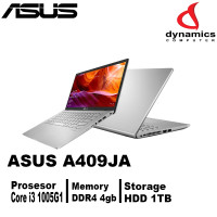 ASUS LAPTOP A409JA CORE I3 1005G1|4GB|HDD 1TB|WINDOWS 10|UHD 14SILVER