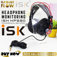 Headphone Headset Monitoring Recording ISK HP580 PRO SEMI OPEN