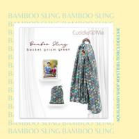 Cuddle Me Gendongan Bayi Ringsling Bamboo Prism Green