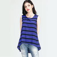 Blouse Wanita / Blue Line Black Blouse 21361L8BA - Logo Jeans