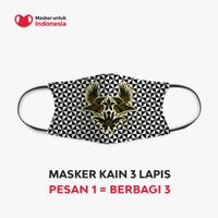Masker Kain 3 Lapis Earloop-Peksi Jawoto Latar Kitiran oleh Iwan Tirta