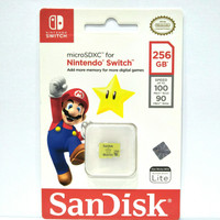 Sandisk microSDXC For Nintendo Switch 256GB - Licensed Micro Sd 256 GB