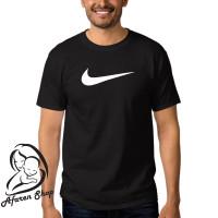 kaos baju t-shirt sport pria premium nike logo