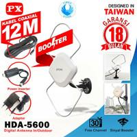 PX HDA 5600 Antena TV 4K Digital Indoor Outdoor - GARANSI 18 BULAN