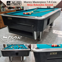 Murrey 7-ft Coin Second Rekondisi - Black Meja Bekas Billiard Table