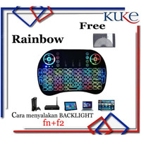 RAINBOW MARQUEE Keyboard Air Mouse i8 Mini Keypad Wireless Touchpad