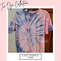 TIE DYE / KAOS / T-SHIRT UNISEX PREMIUM QUALITY - Loly Purple Pink - S