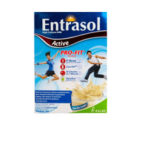 Entrasol Active Hight Calcium Milk Rasa Vanilla Latte 160gr