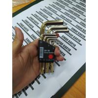 Kunci L WIHA SB 351 H9 Hexagon Key Set Classic Holder Short 9 Pcs ORI