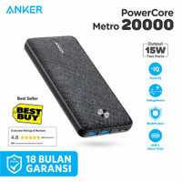 Powerbank Anker PowerCore Metro 20000mAh Black - A1268