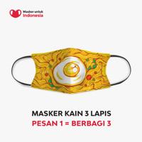 Masker Kain 3 Lapis (3 Ply) Earloop - Desain oleh Alam Taslim