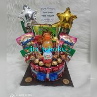 Snack Cake/ Snack Tart / buket bunga/ buket balon