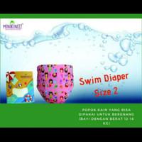 Popok Celana Renang Anak Size 2 Minikinizz Swim Diaper Berat 12-16 KG