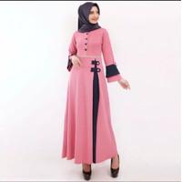 Baju Gamis Remaja Terbaru Gamis Busui Bahan Babat Pesta Muslimah 9838