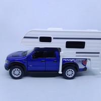 diecast mobil ford raptor 150 truck camper kinsmart