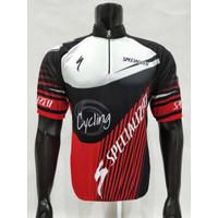 kaos Baju Jersey Sepeda Pendek Specialized - L