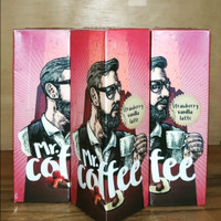 Vape Liquid Mr Coffee Strawberry Vanilla Latte 6MG 60ML by IDJ
