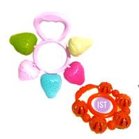 Mainan Pegangan Kerincingan Bayi strawberry isi 2 pcs No. OCT 3226