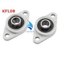KFL08 Bearing Housing KFL-08 KFL 08 Flange 8 mm M8 Pillow Block Oval