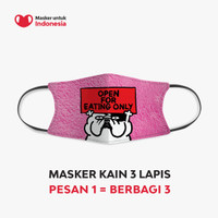 Masker untuk Indonesia x Ykha Amelz - Kain Scuba Full Printing