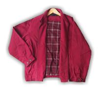 Jaket Harrington Bomber Vintage Kerja BeanPole Size XL Warna Merah